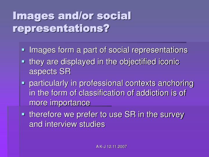Images and/or social representations?