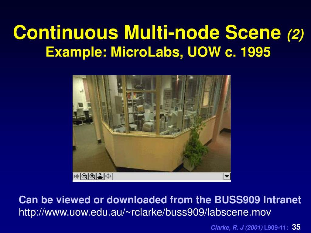 Continuous Multi-node Scene