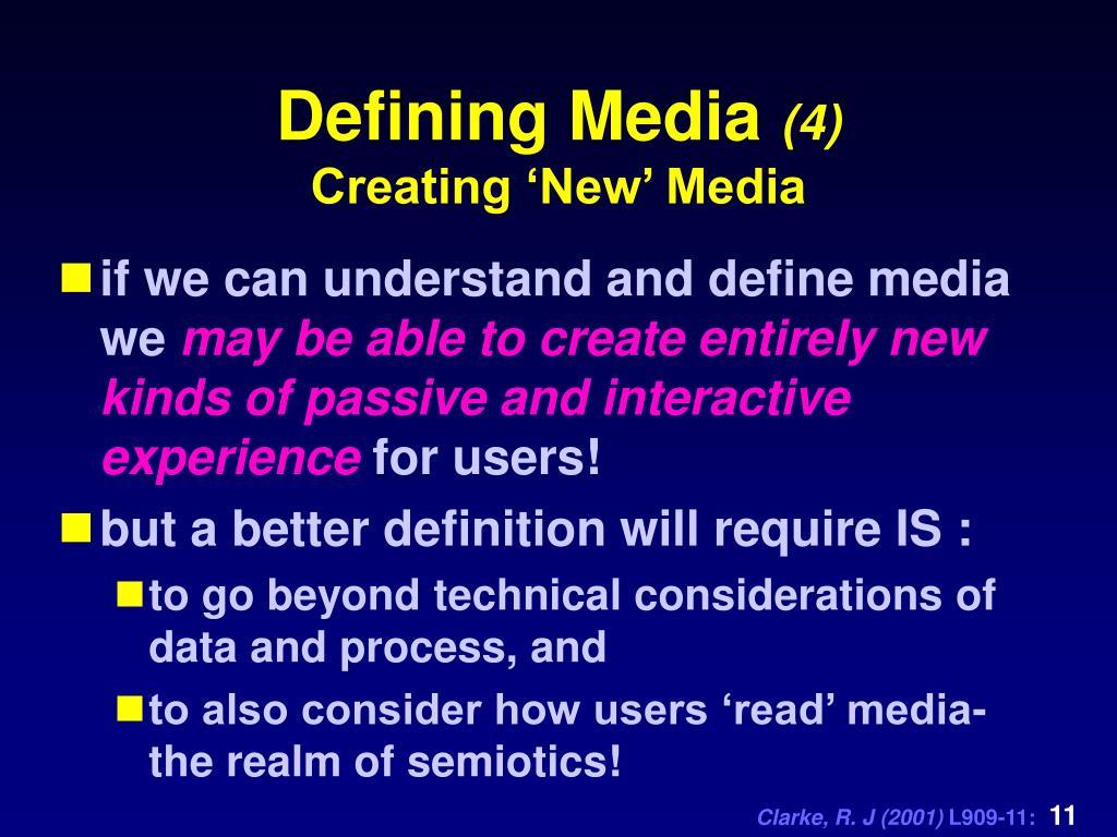 Defining Media