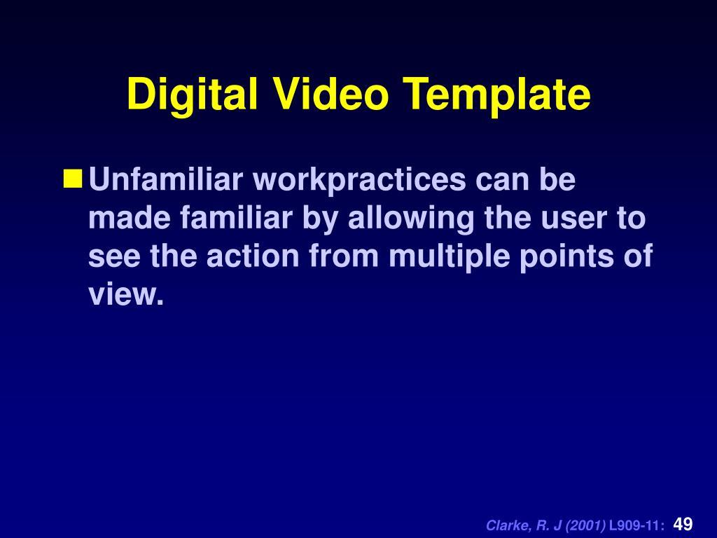 Digital Video Template
