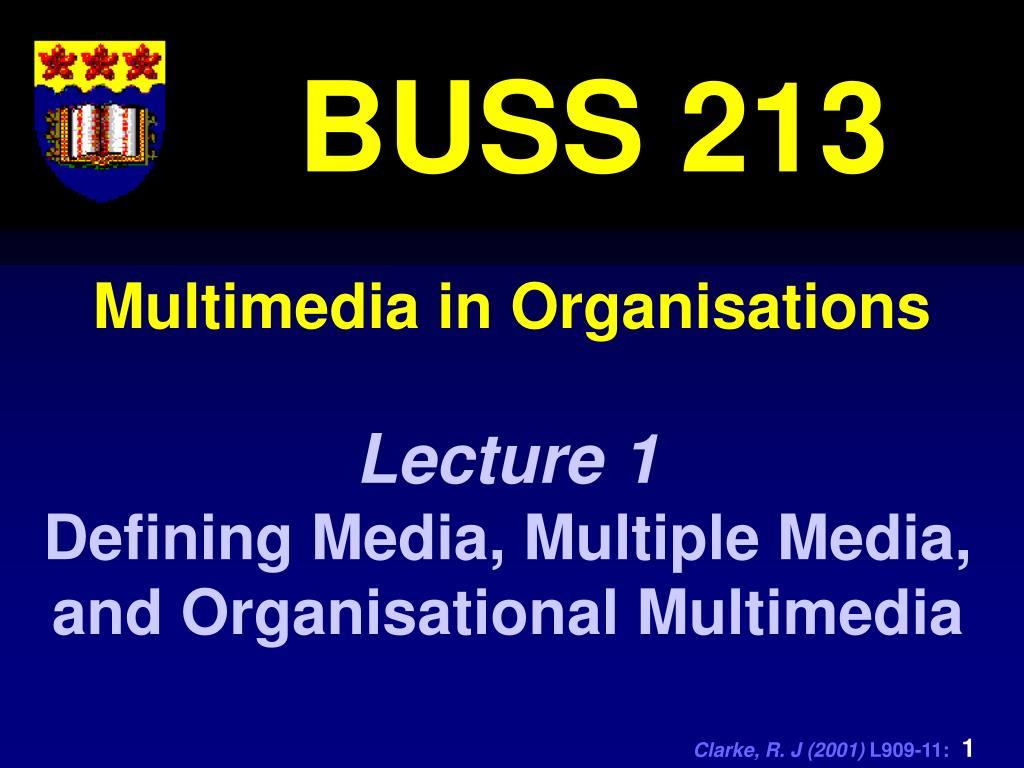 Multimedia in Organisations