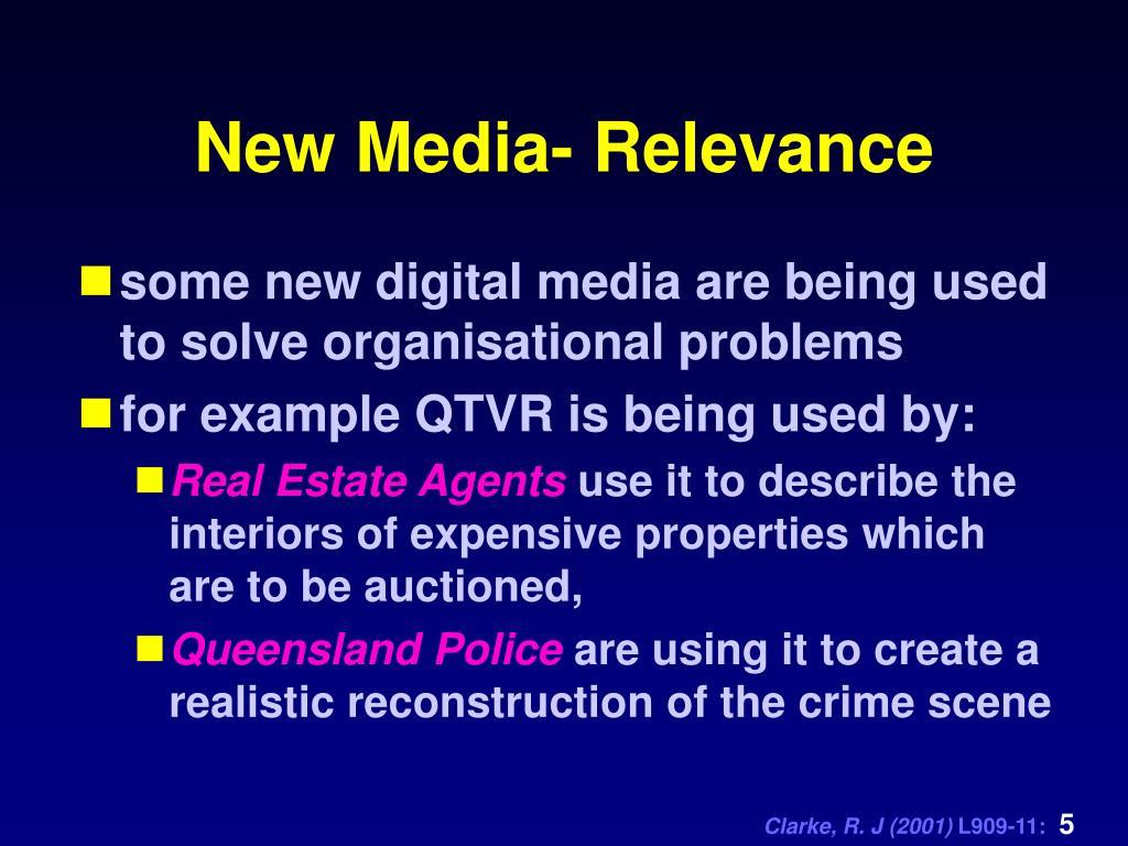 New Media- Relevance
