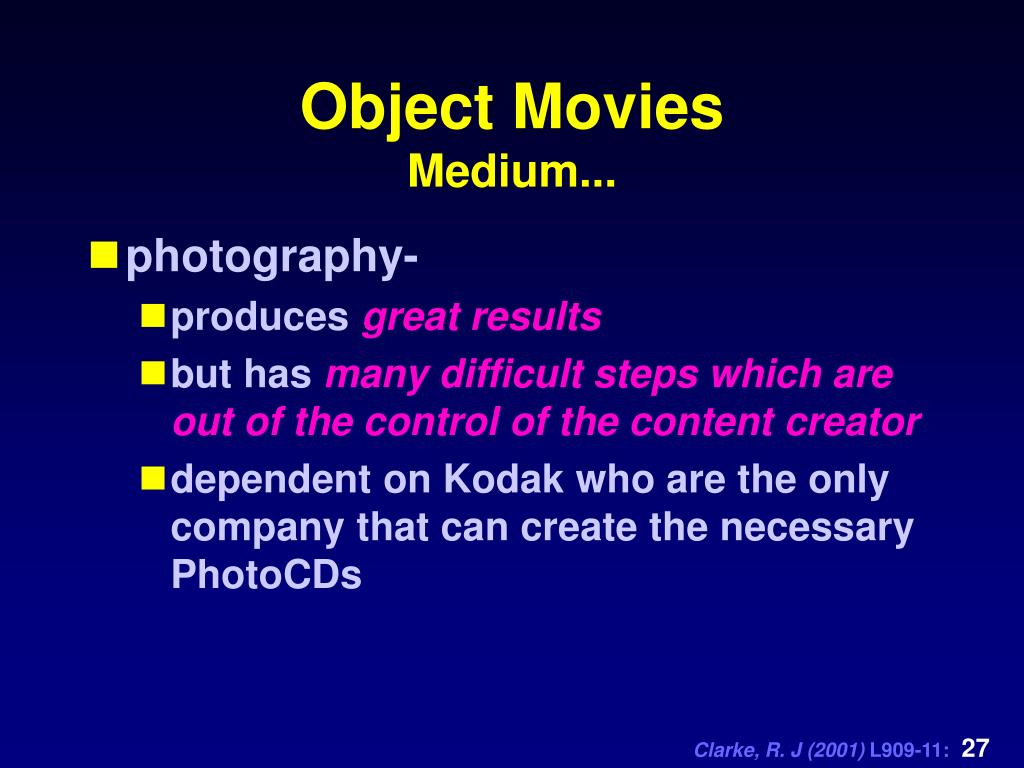 Object Movies