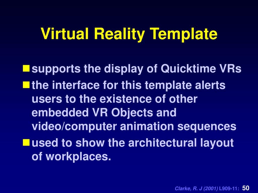Virtual Reality Template