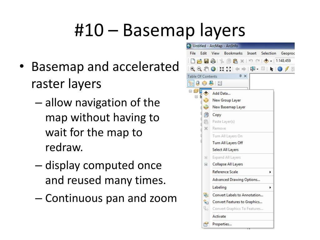 #10 – Basemap layers