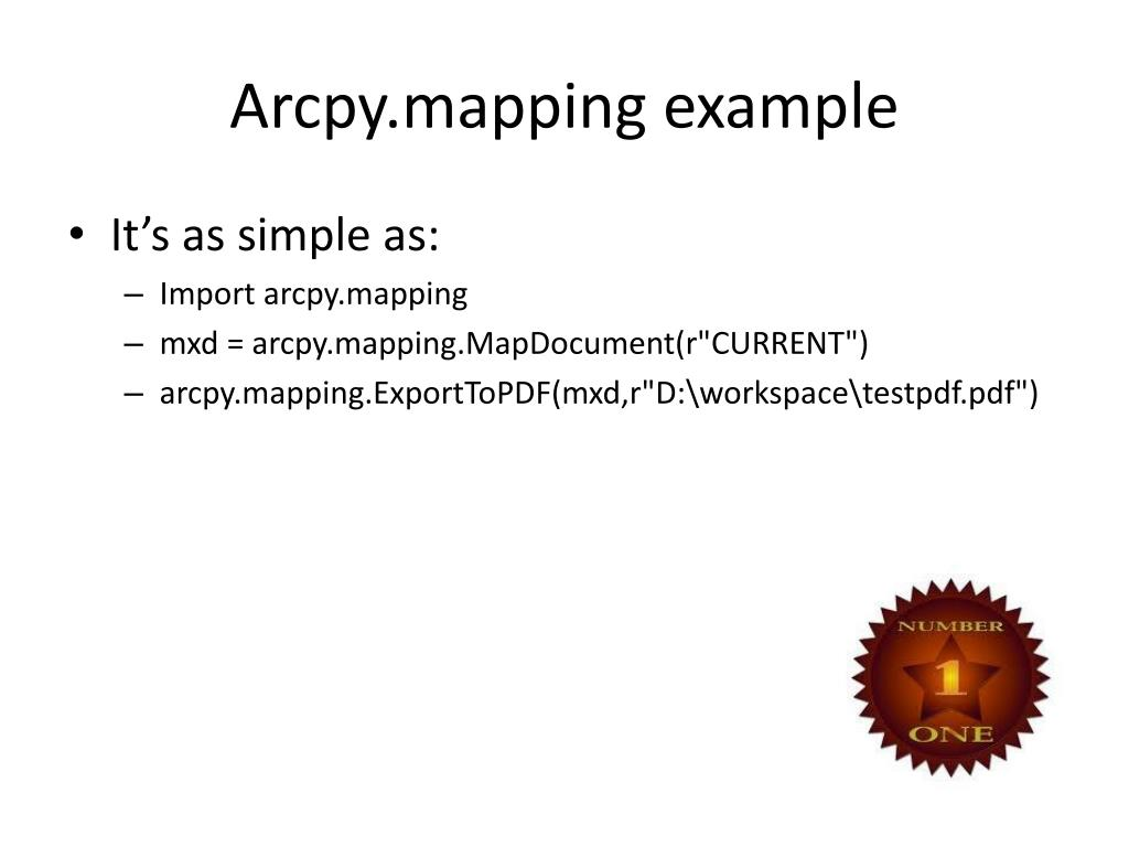 Arcpy.mapping example