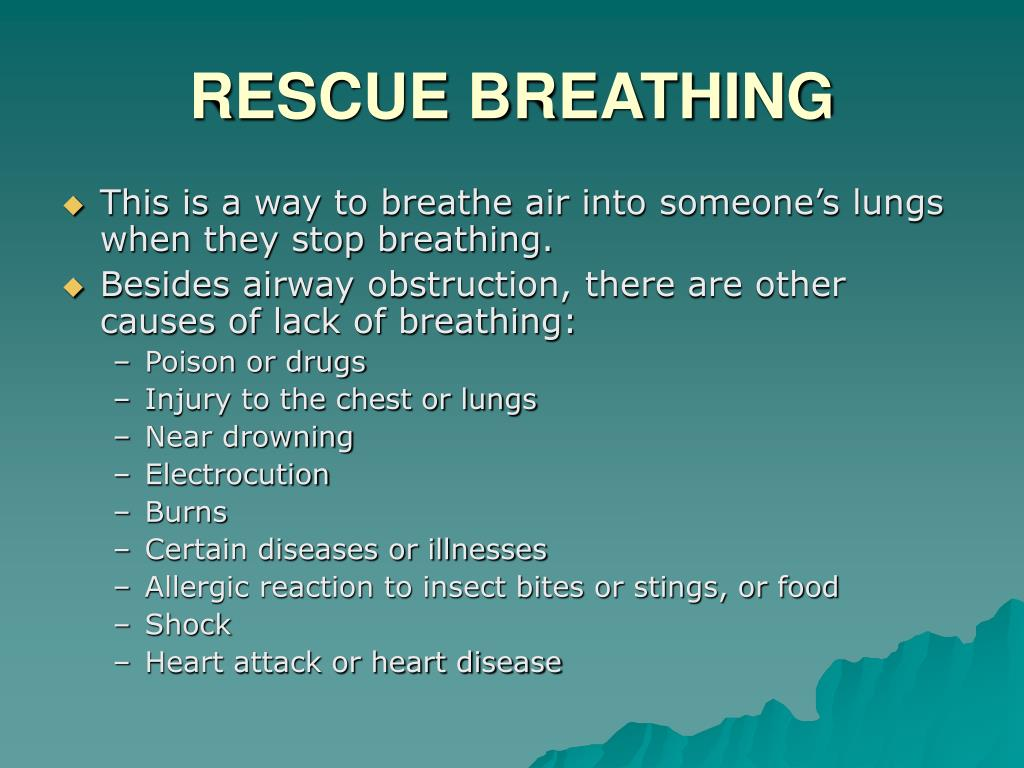 RESCUE BREATHING