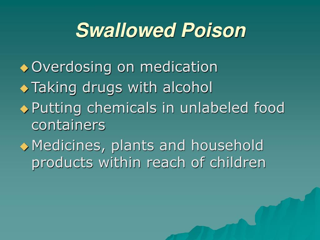 Swallowed Poison