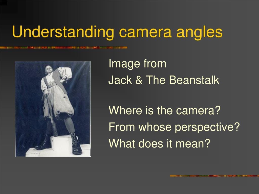 Understanding camera angles