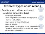 different types of aid cont