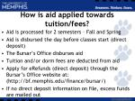 how is aid applied towards tuition fees