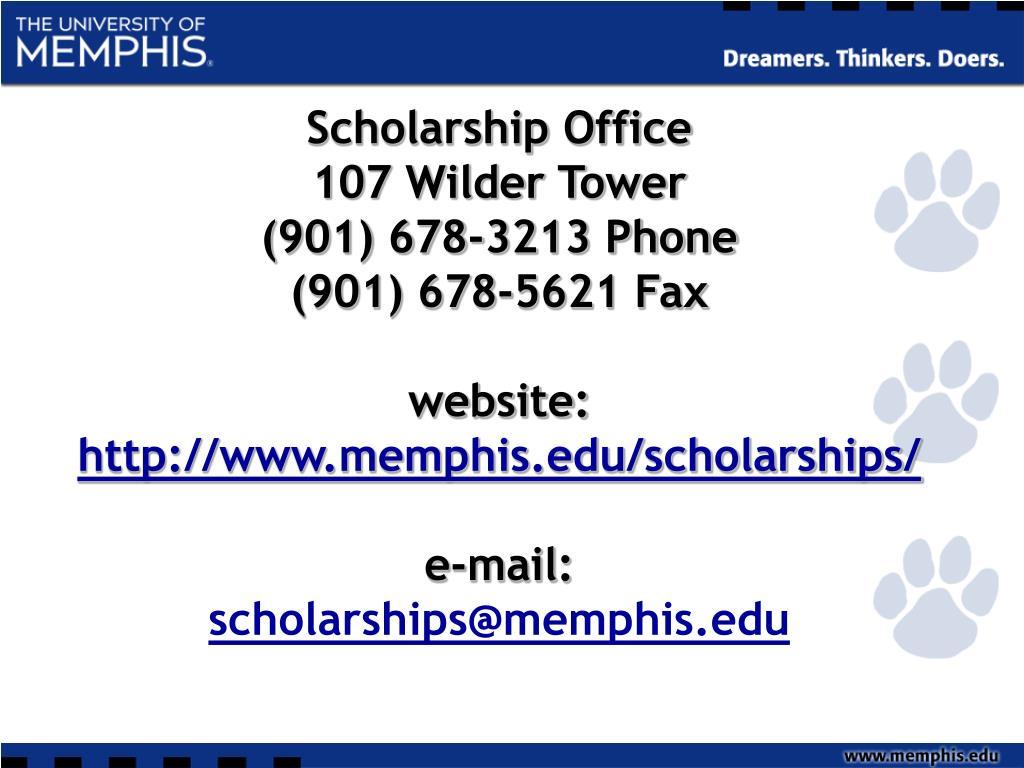 Scholarship Office