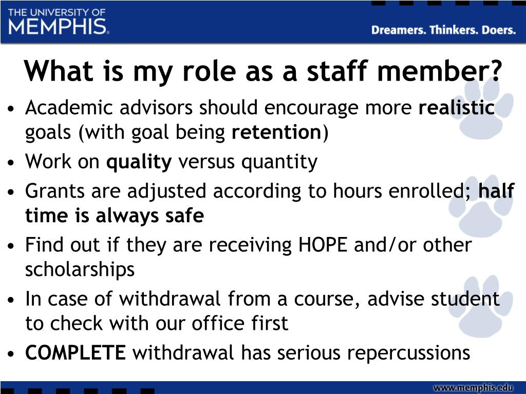 What is my role as a staff member?