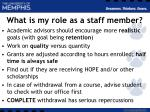 what is my role as a staff member