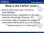 what is the fafsa cont