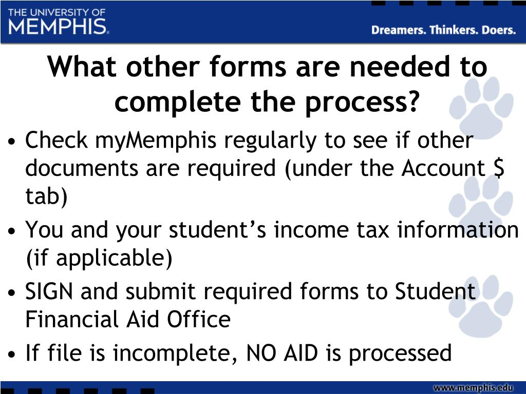 What other forms are needed to complete the process?