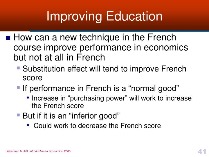 Improving Education