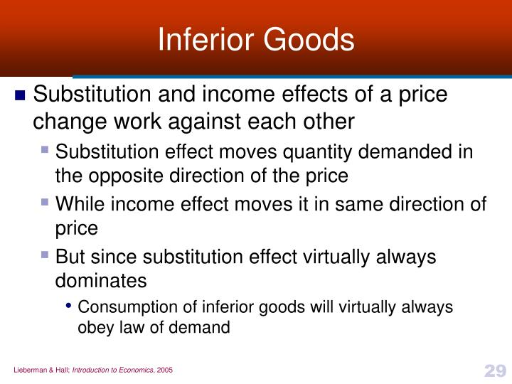 Inferior Goods