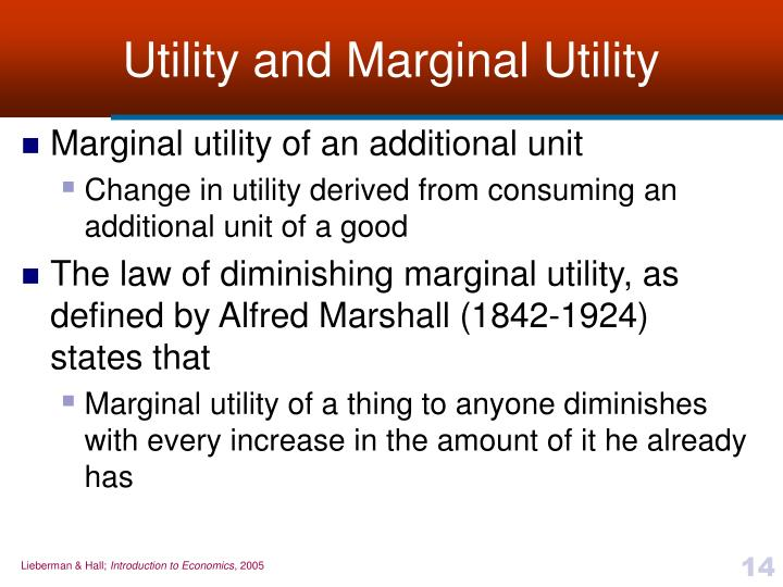 Utility and Marginal Utility