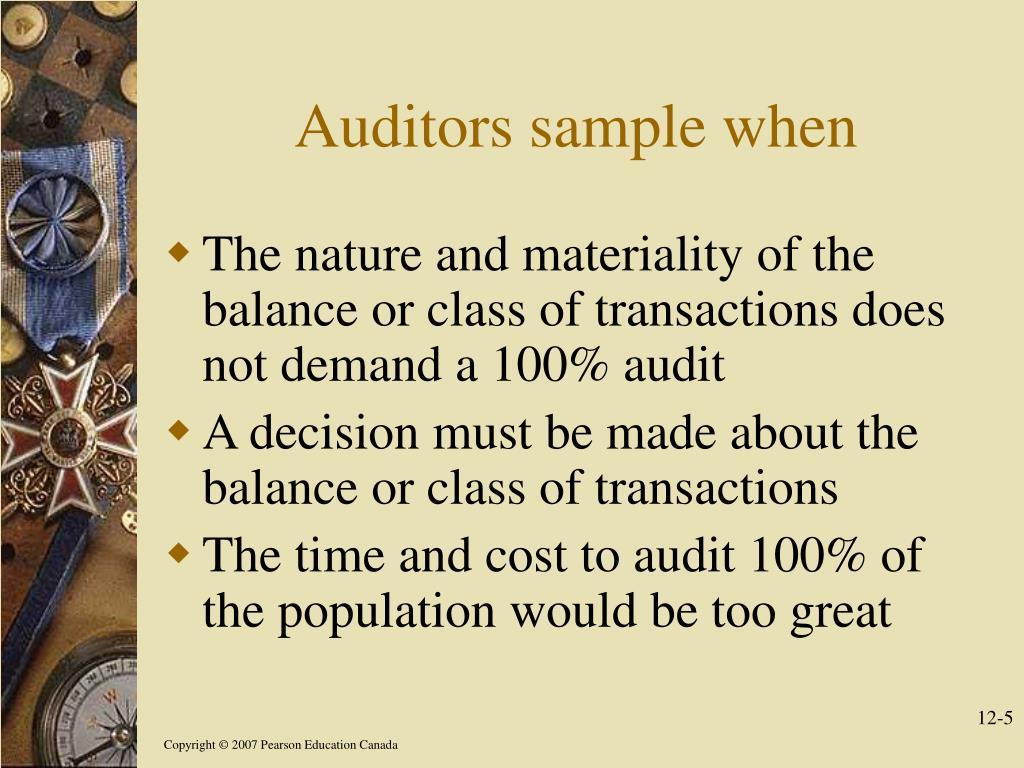 Auditors sample when