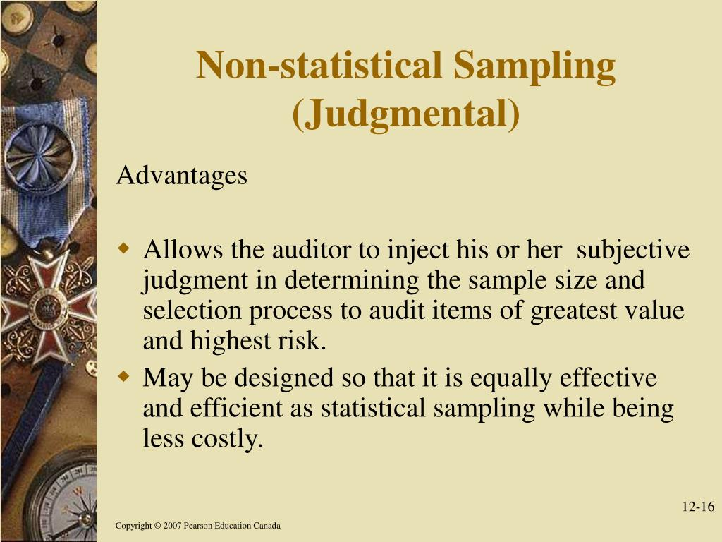 Non-statistical Sampling (Judgmental)