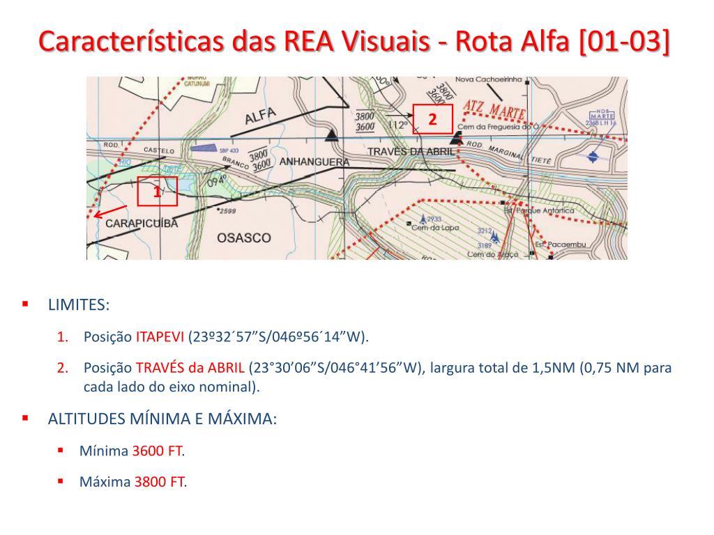 Características das REA Visuais - Rota Alfa [01-03]