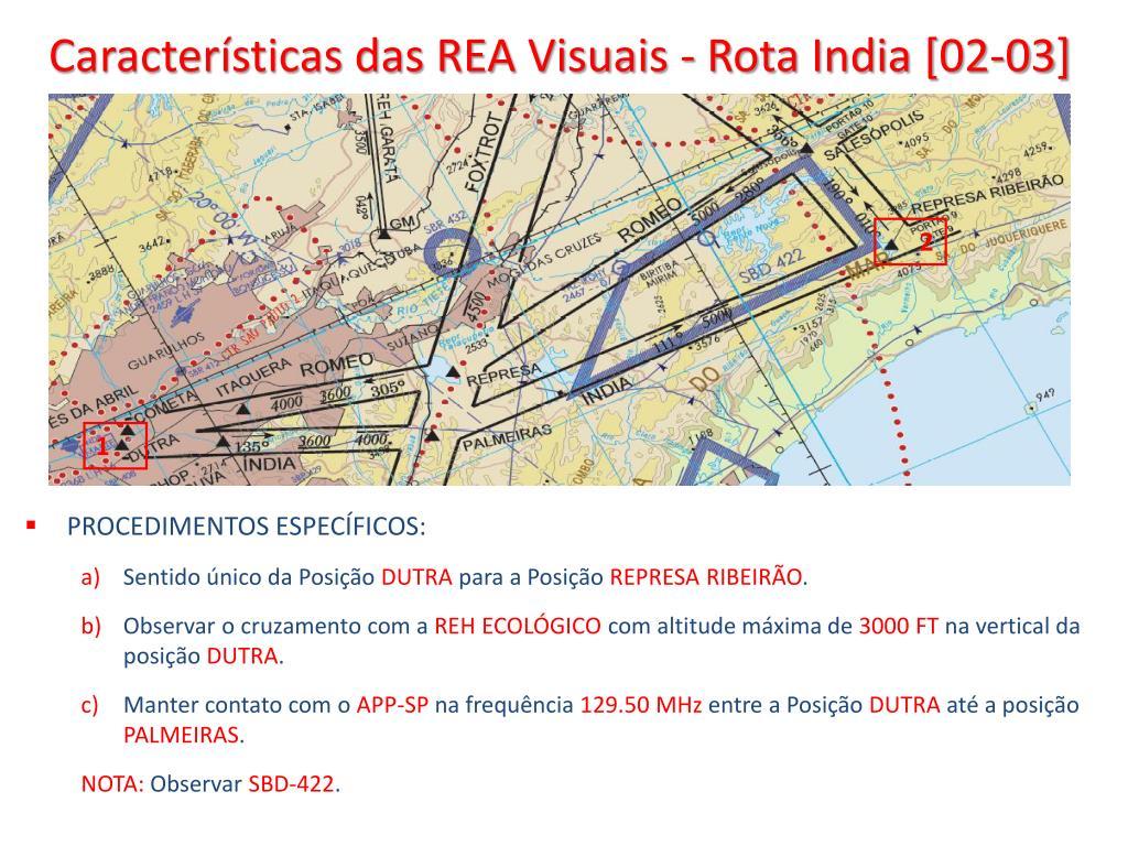 Características das REA Visuais - Rota India