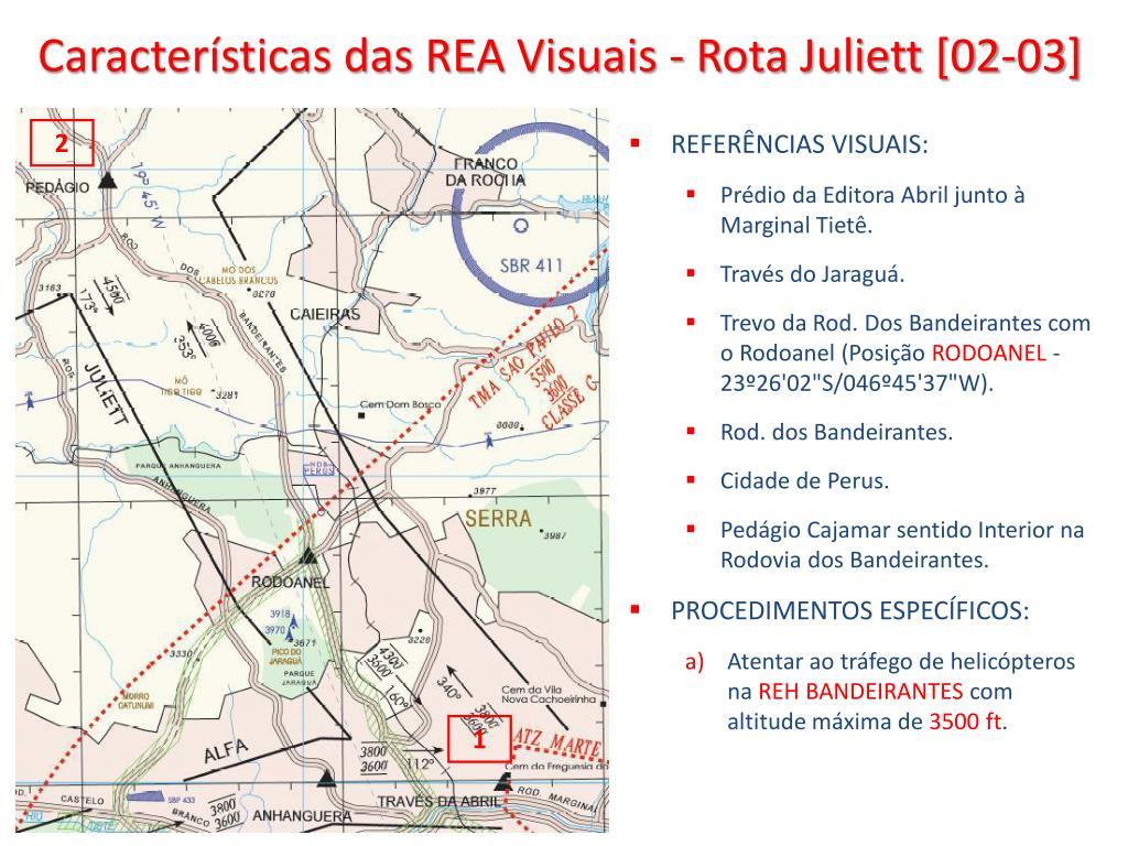 Características das REA Visuais - Rota Juliett