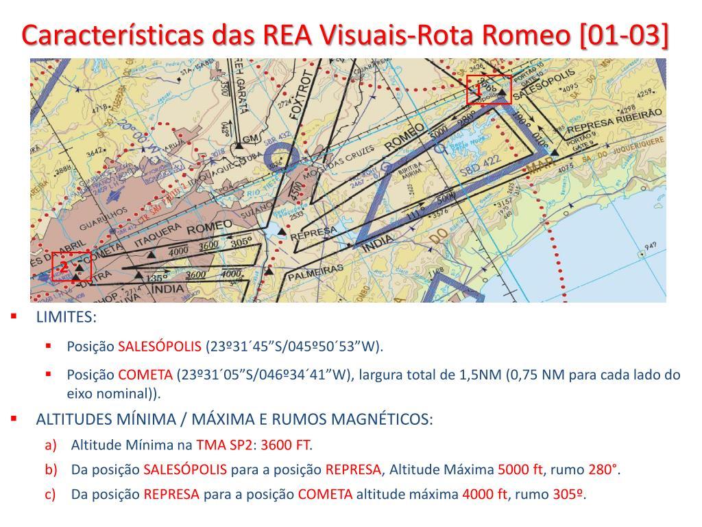 Características das REA Visuais-Rota Romeo [01-03]