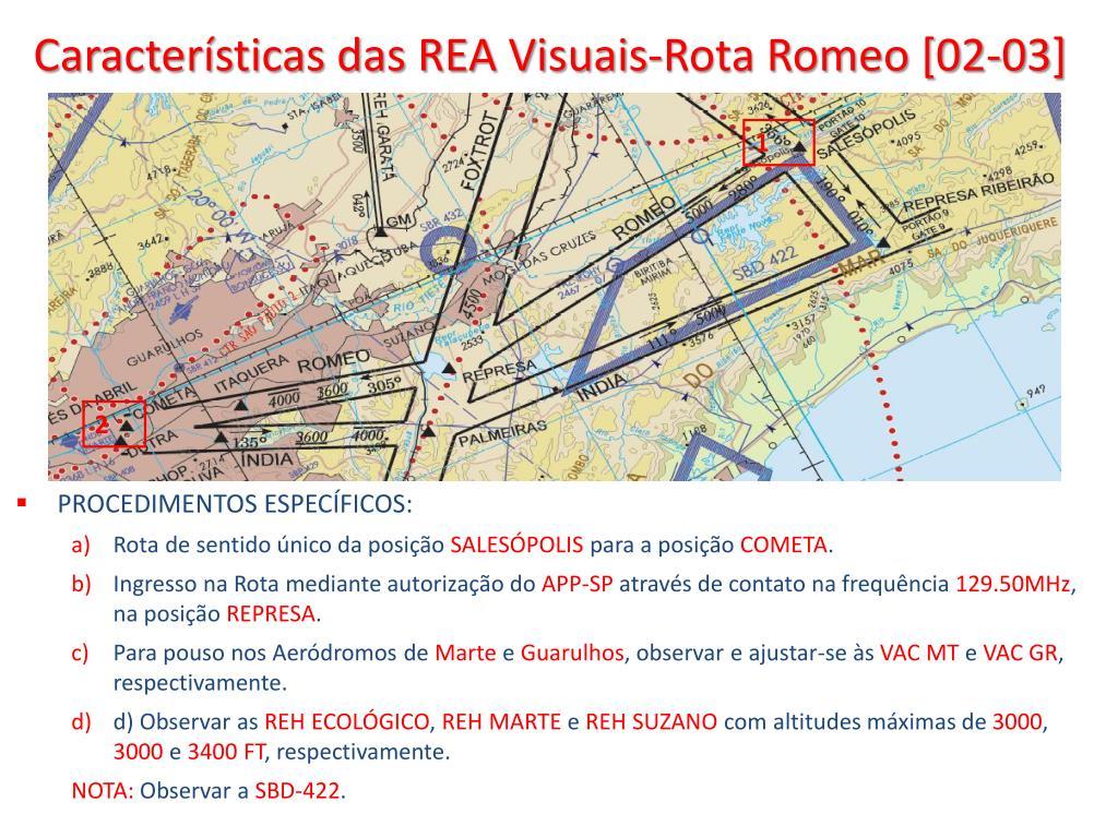 Características das REA Visuais-Rota Romeo [02-03]