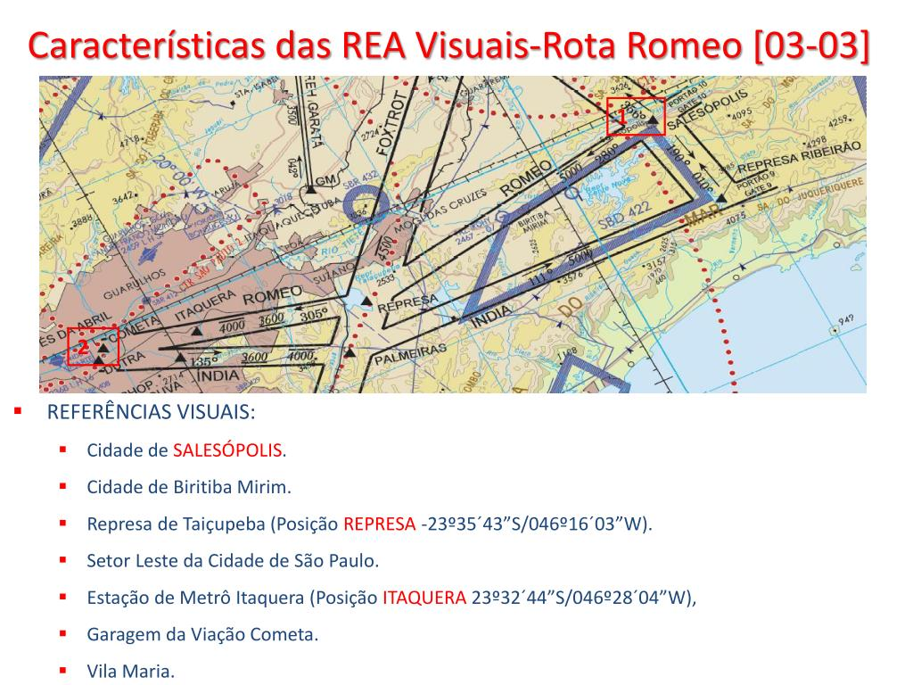 Características das REA Visuais-Rota Romeo [03-03]