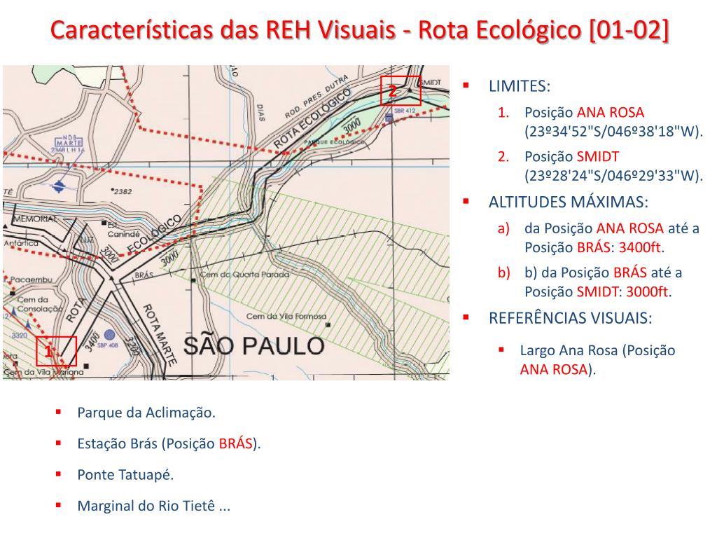 Características das REH Visuais - Rota Ecológico [01-02]