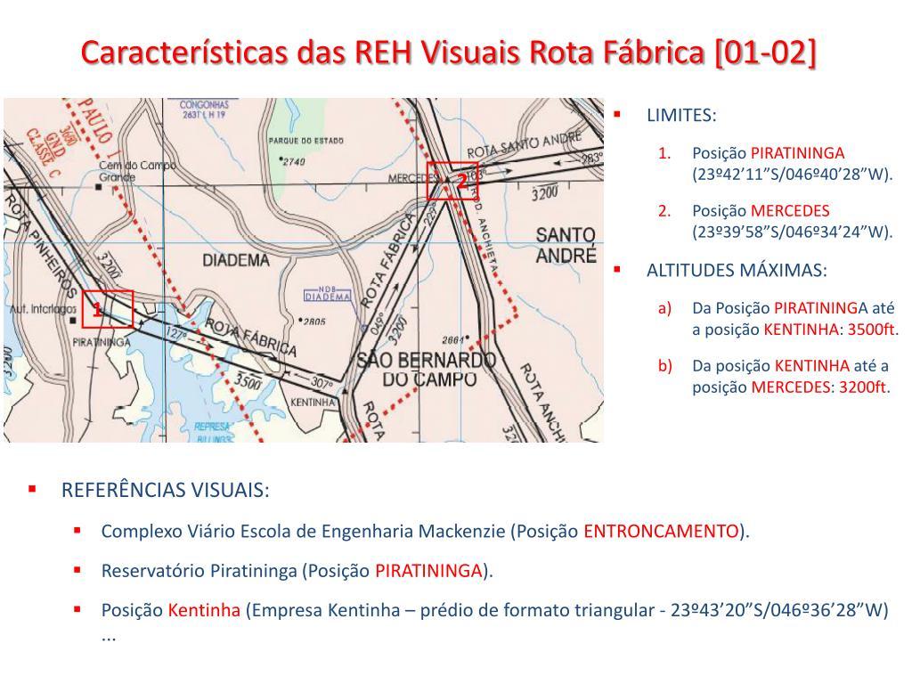Características das REH Visuais Rota Fábrica [01-02]
