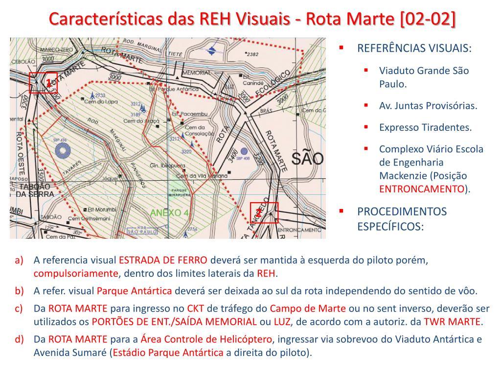 Características das REH Visuais - Rota Marte [02-02]