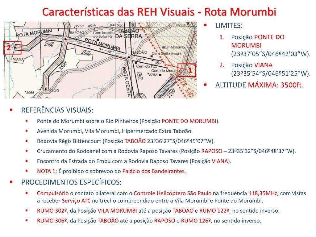 Características das REH Visuais - Rota Morumbi