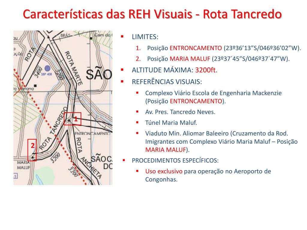 Características das REH Visuais - Rota Tancredo