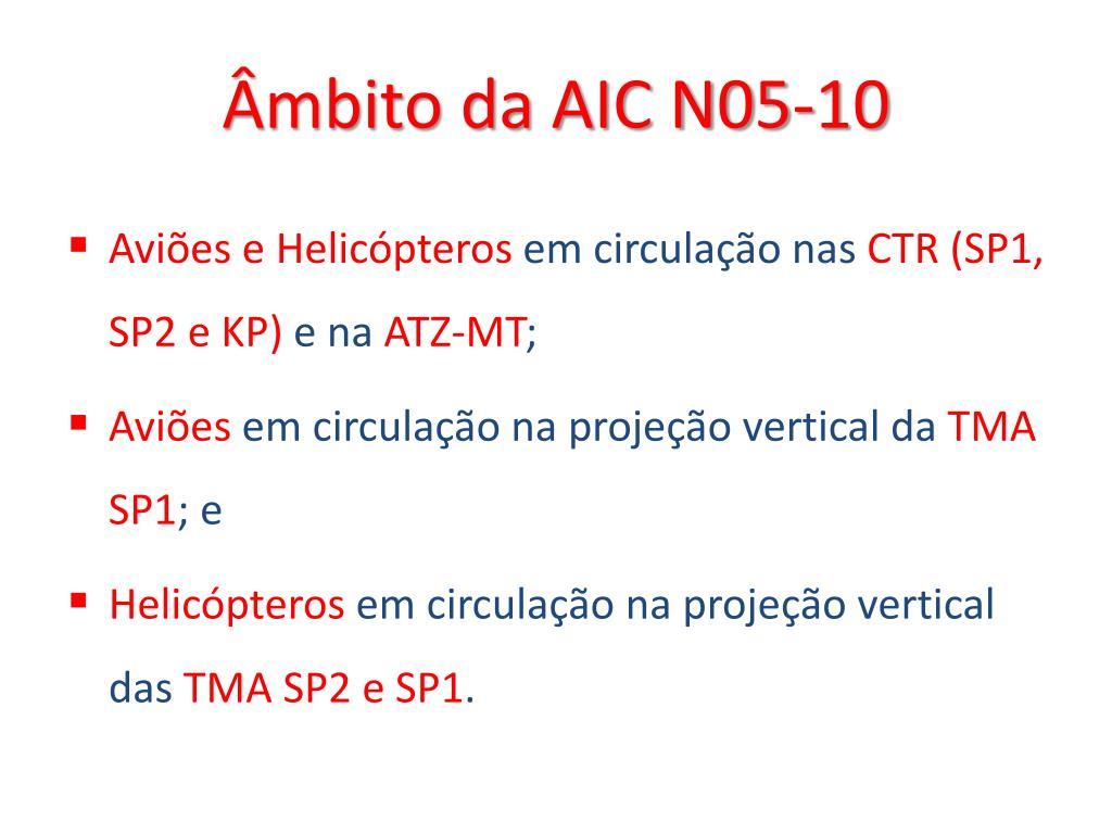 Âmbito da AIC N05-10