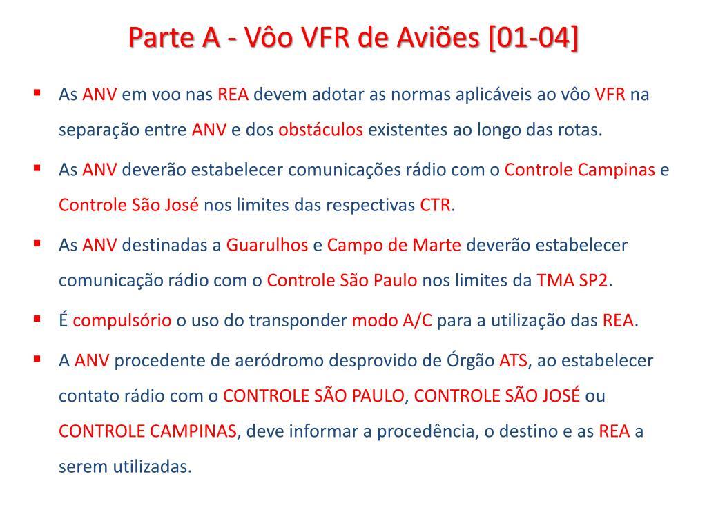 Parte A - Vôo VFR de Aviões [01-04]