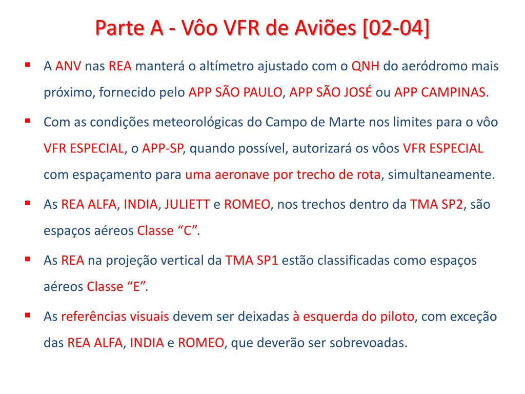 Parte A - Vôo VFR de Aviões