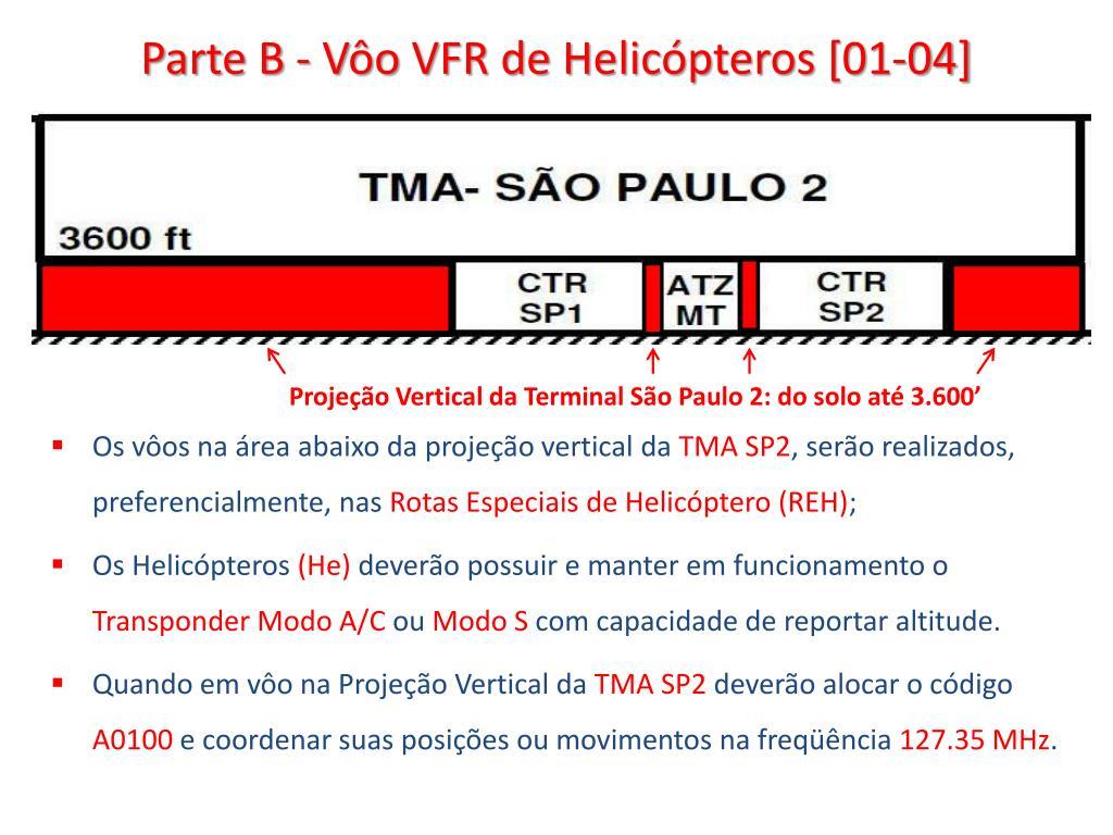 Parte B - Vôo VFR de Helicópteros [01-04]