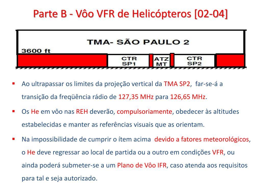 Parte B - Vôo VFR de Helicópteros [02-04]
