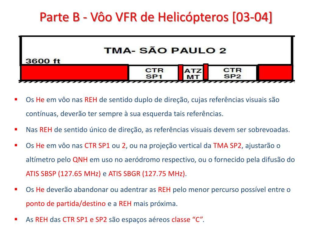 Parte B - Vôo VFR de Helicópteros [03-04]
