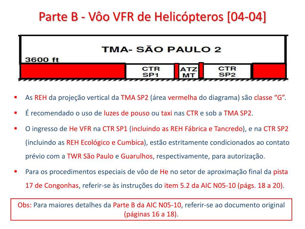 Parte B - Vôo VFR de Helicópteros [04-04]