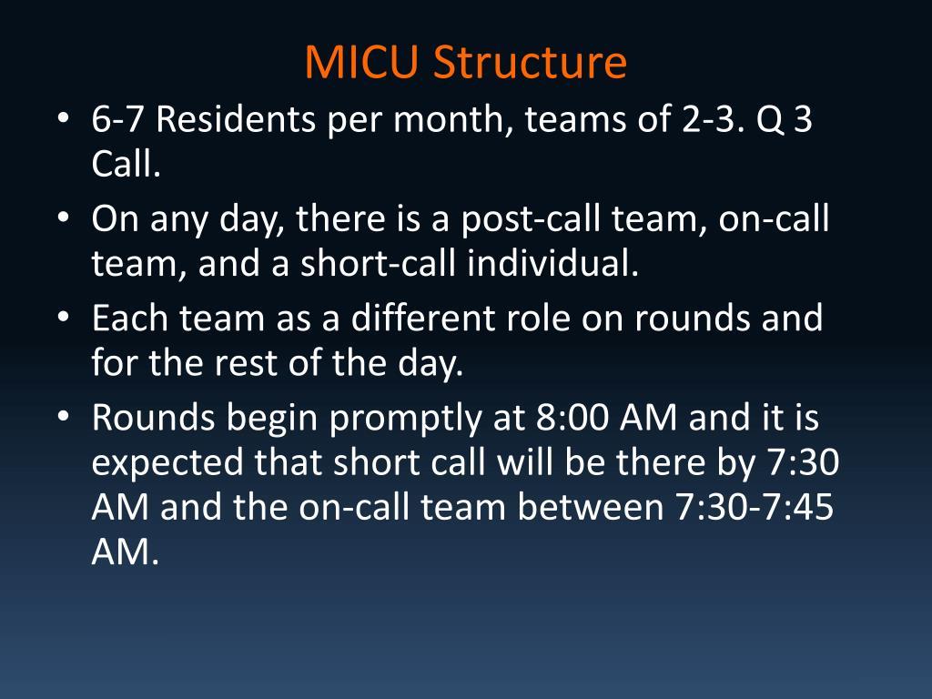 MICU Structure