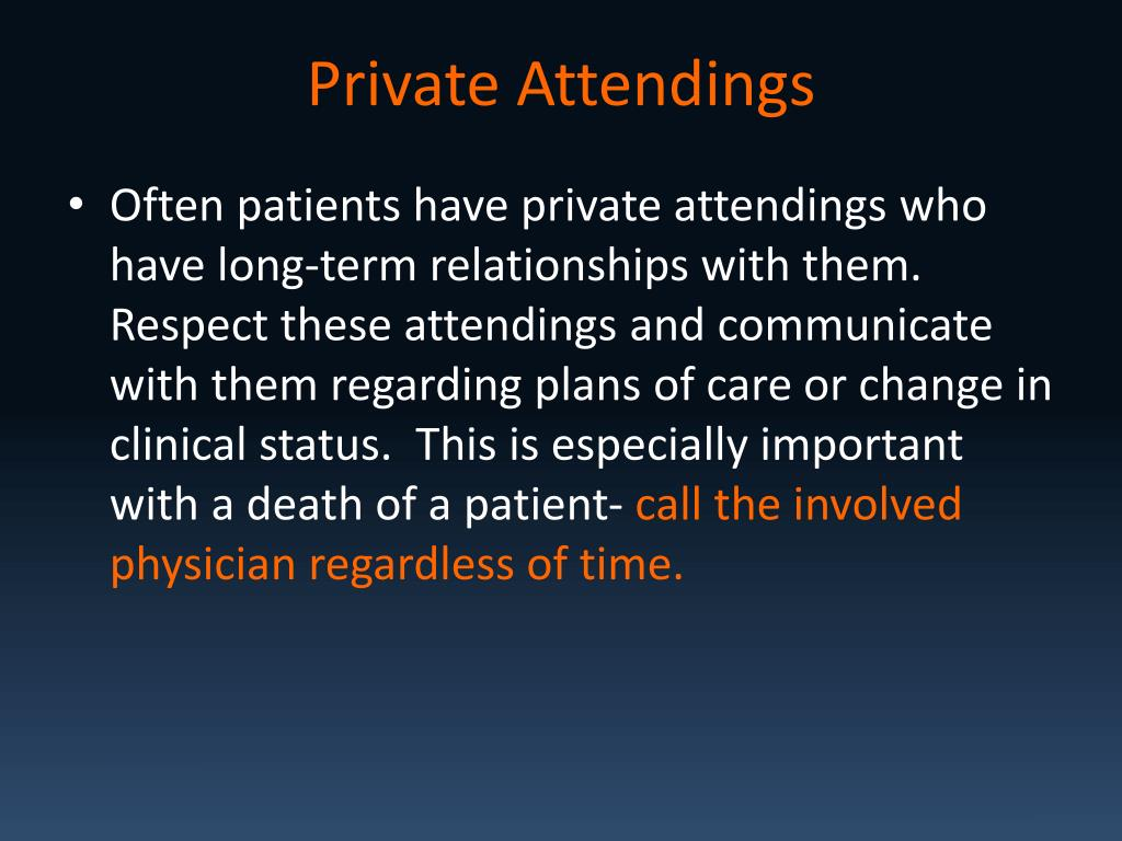 Private Attendings