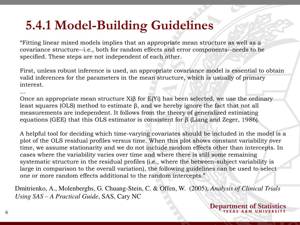 5.4.1 Model-Building Guidelines