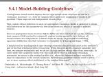 5 4 1 model building guidelines