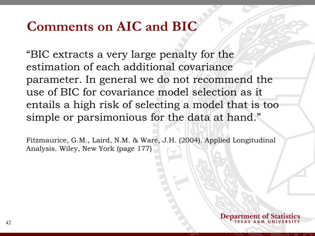 Comments on AIC and BIC