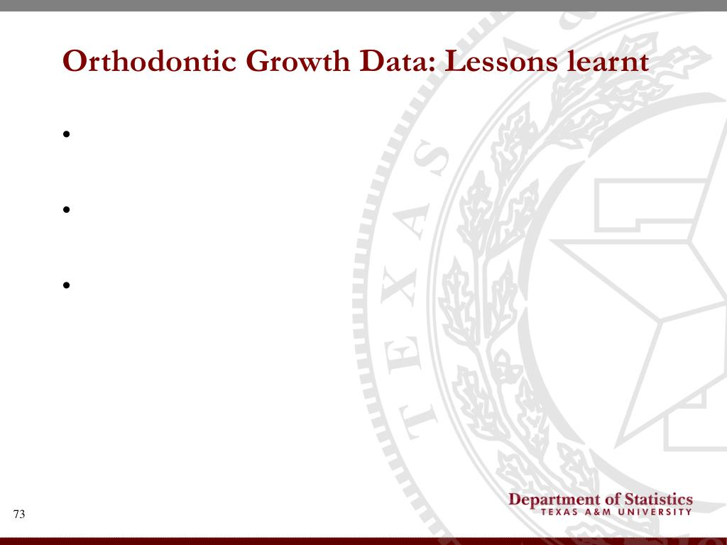 Orthodontic Growth Data: Lessons learnt