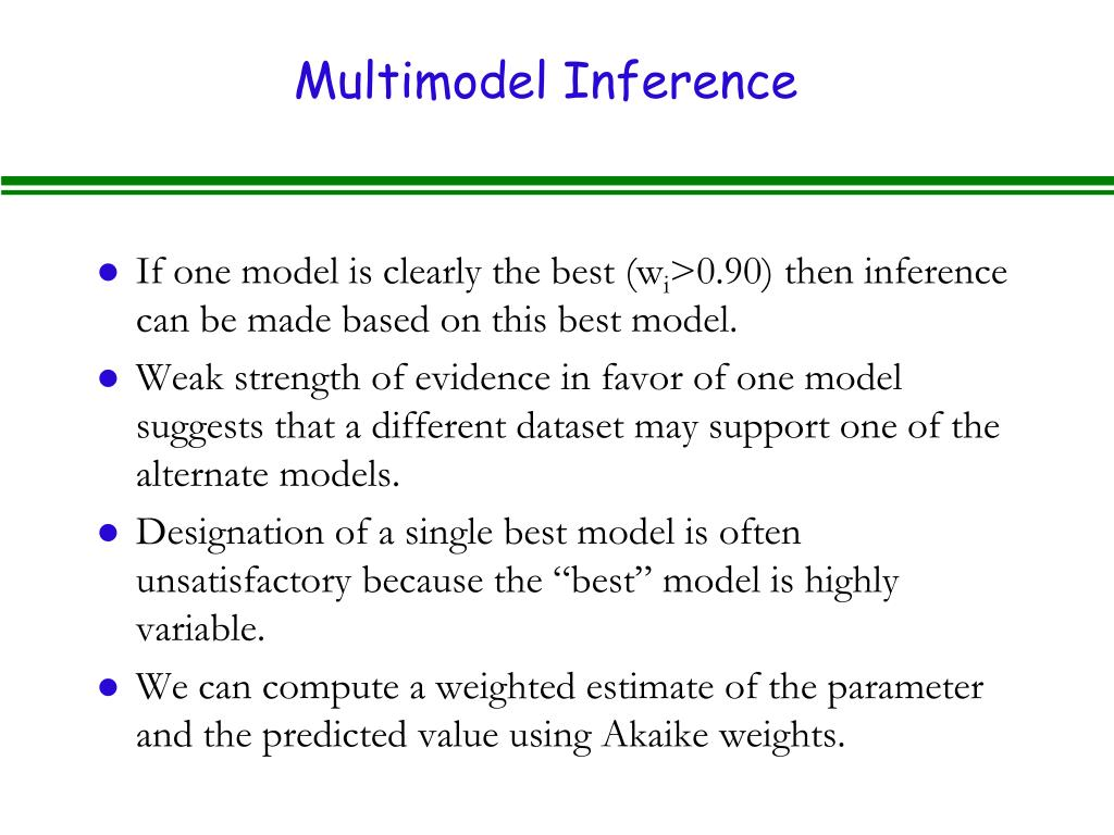 Multimodel Inference